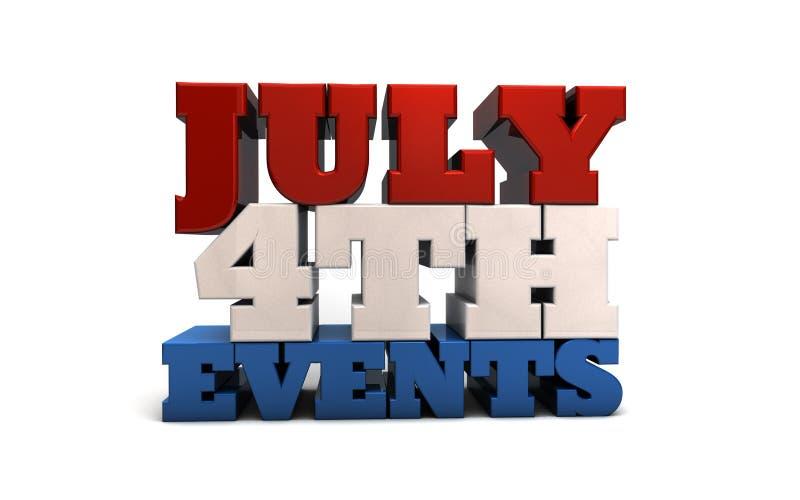 Juli 4th händelser vektor illustrationer