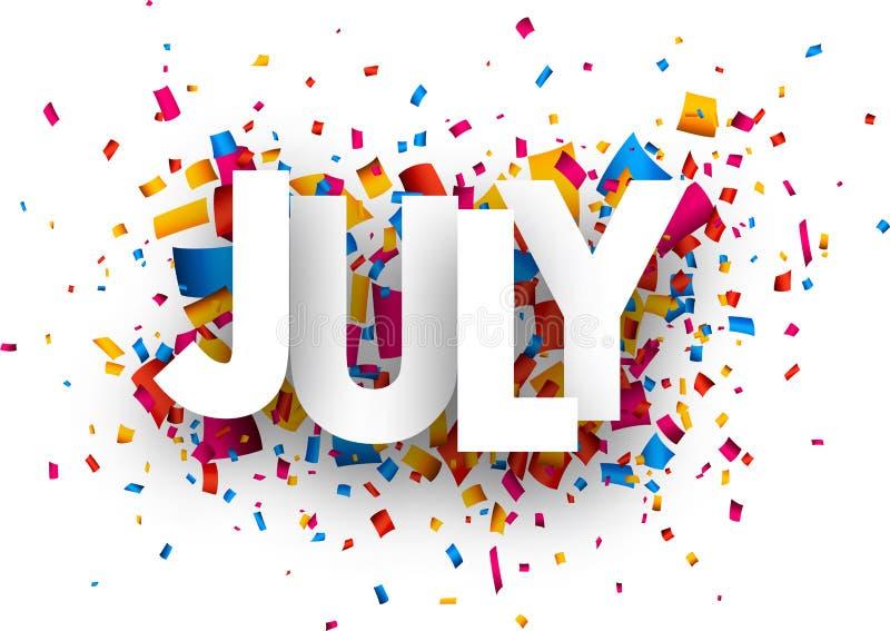 Juli-Zeichen vektor abbildung