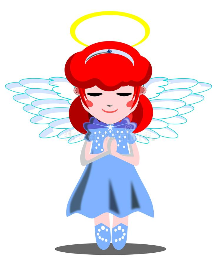 Download Julia as an angel stock vector. Illustration of aureole - 21041894