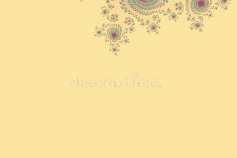 Julia fractal abstract geometrical wallpaper background with hypnotic shapes and Yellow Green colors royalty free stock photos