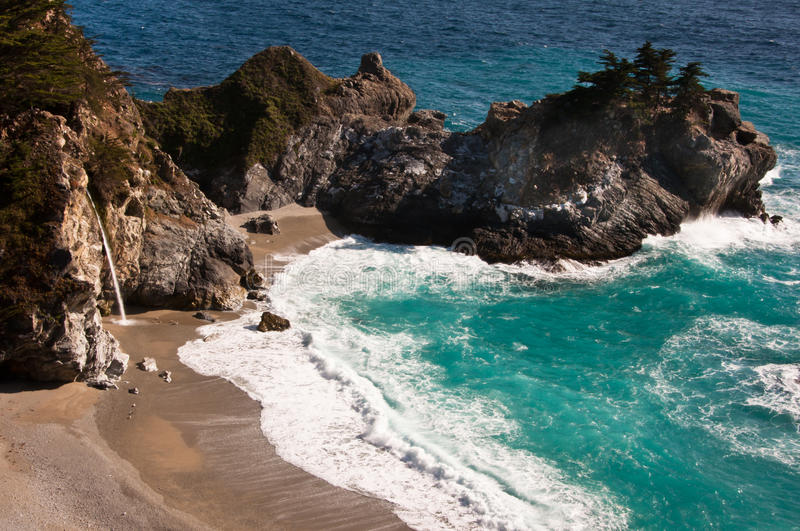 Julia Pfeiffer Burns State Park Royalty Free Stock Images