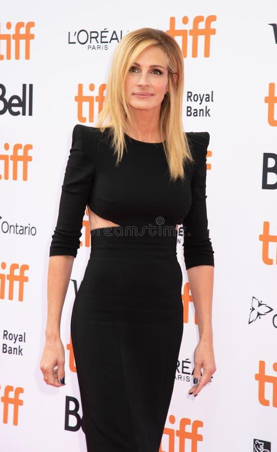 Julia Roberts al prima di Ben Is Back al festival cinematografico dell'internazionale di Toronto immagini stock libere da diritti