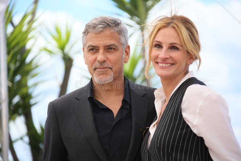 Julia Roberts, George Clooney fotografia stock libera da diritti