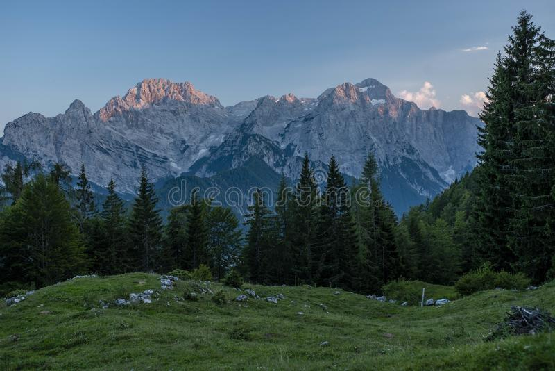 Julian Alps in Summer 2018 royalty free stock images