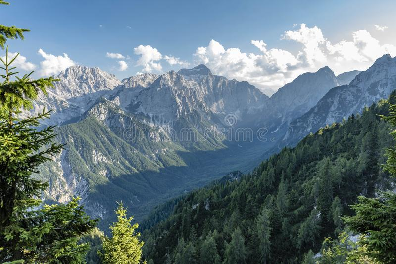 Julian Alps in Summer 2018 stock photography