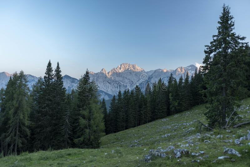 Julian Alps in Summer 2018 royalty free stock image