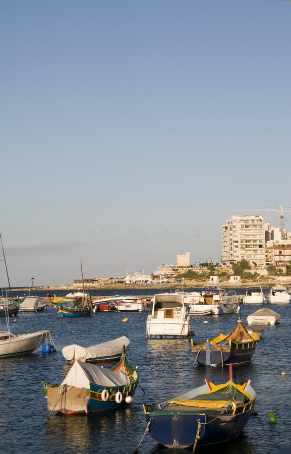 julian luzzu portu łodzią Malty jest maltese st. zdjęcia stock