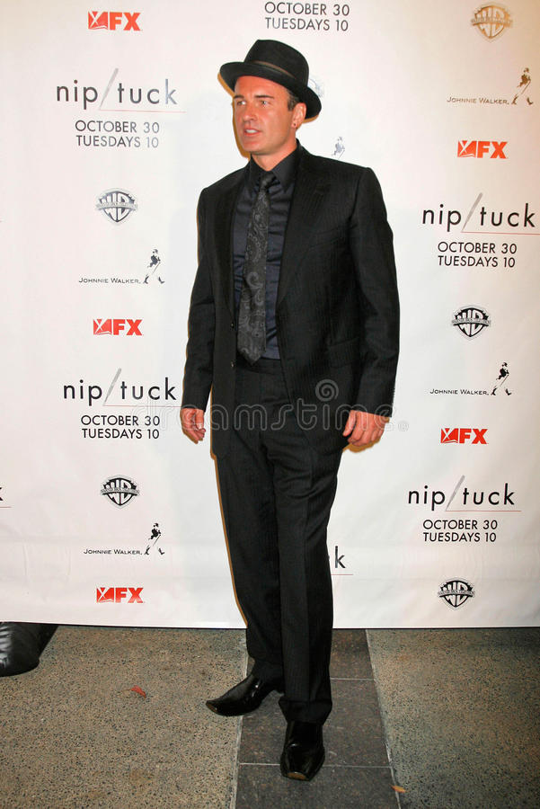 Julian McMahon at the Nip-Tuck Season 5 Premiere Screening. Paramount Studios, Hollywood, CA. 10-20-07 royalty free stock photography