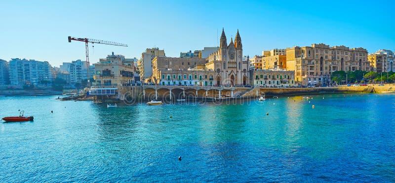 Julian panorama van St, Malta royalty-vrije stock foto