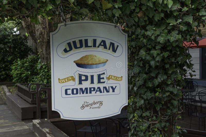 Julian Pie Company Sign photographie stock libre de droits