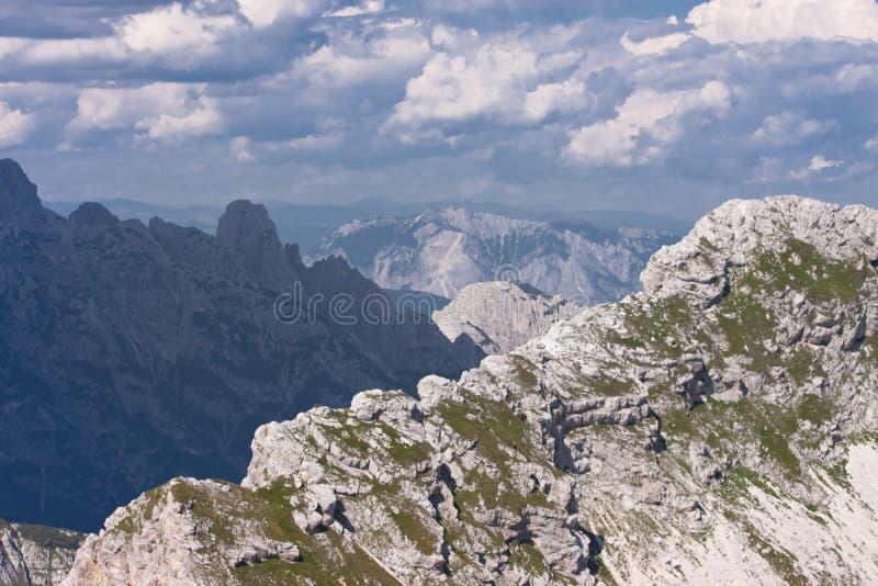 Julianische Alpen in Slowenien stockfotos