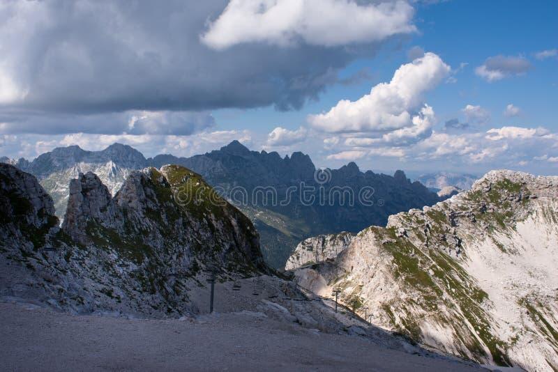 Julianische Alpen in Slowenien lizenzfreie stockbilder