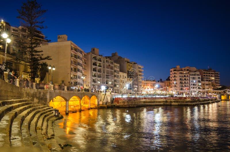 Julianische Bucht St. - Malta stockfotos