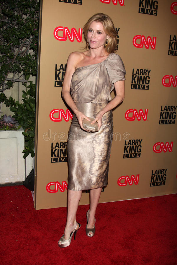 Julie Bowen, Larry King photographie stock libre de droits