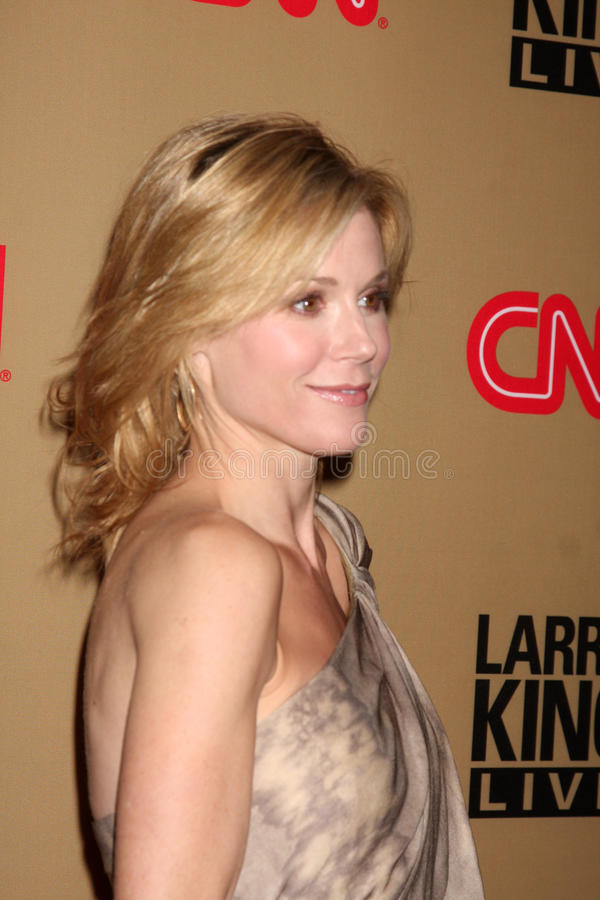 Julie Bowen, Larry King photo libre de droits