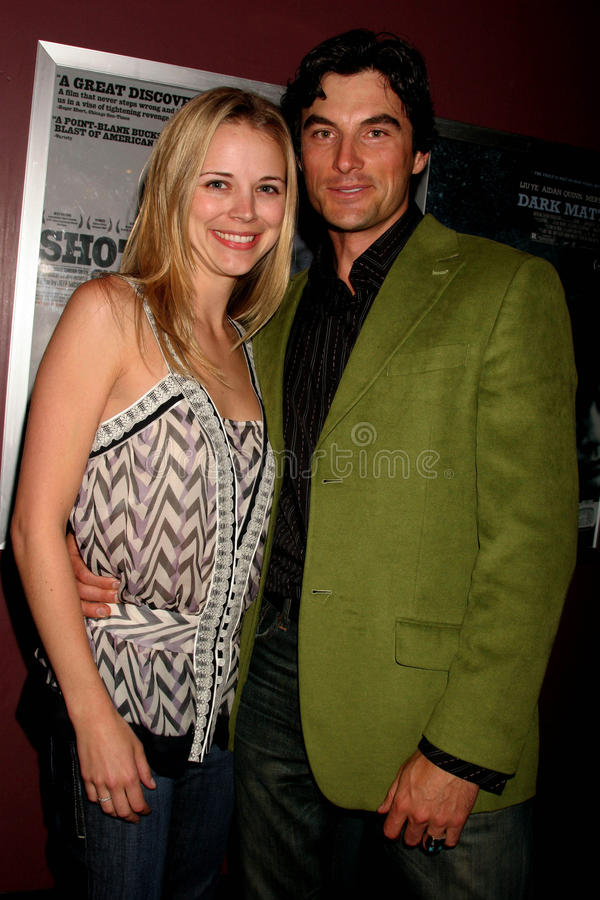 Julie Skon and Ryan Culver. At the Los Angeles Premiere of 'Grizzly Park'. Laemmle Sunset 5 Cinemas, West Hollywood, CA. 04-04-08 stock image