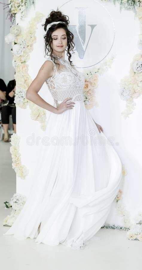 Julie Vino FW18 Bridal obraz royalty free