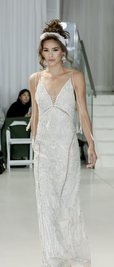 Julie Vino FW18 Bridal obrazy royalty free