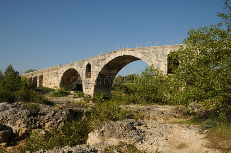 Julien Bridge In Bonnieux In Provence Stock Photography