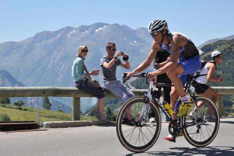 julien loy triathlete arkivfoton