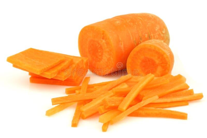 julienne отрезока моркови отрезает зиму стоковые изображения rf