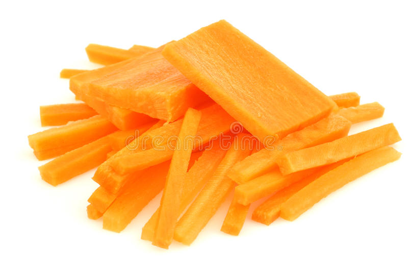 julienne отрезока моркови отрезает зиму стоковое фото rf