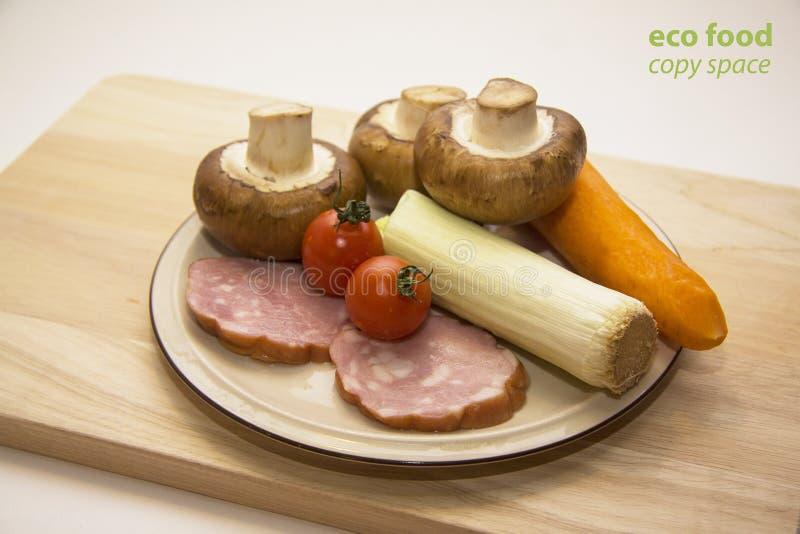 Julienne ingrediënten 1 royalty-vrije stock afbeelding