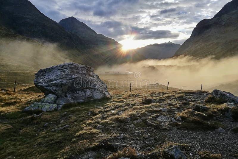 Julierpass - Zwitserland stock afbeelding