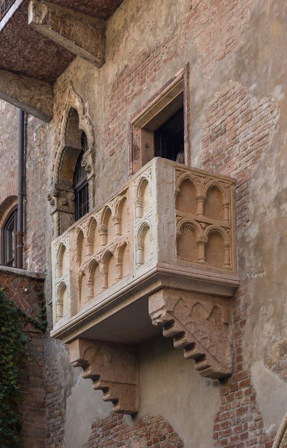 Juliet Balcony, Τοποθεσία του έργου του Σαίξπηρ στοκ φωτογραφίες με δικαίωμα ελεύθερης χρήσης