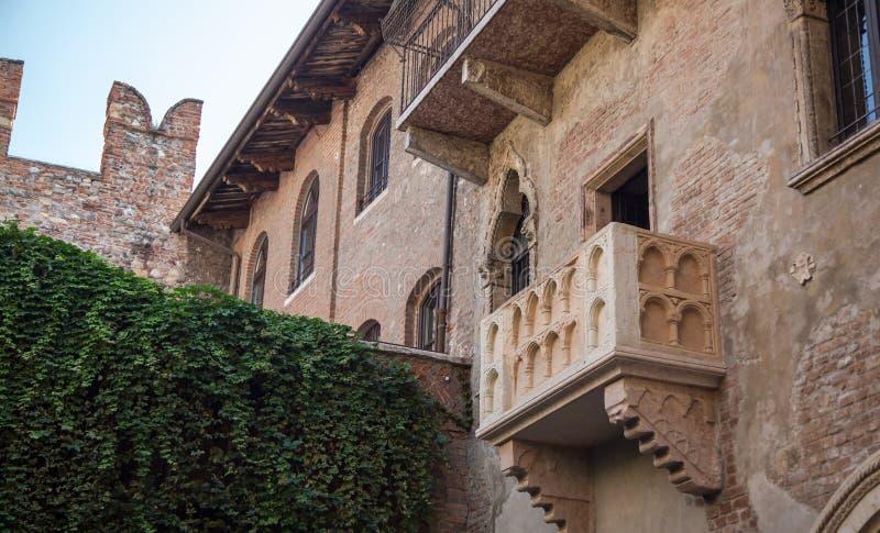 Juliet Balcony, Τοποθεσία του έργου του Σαίξπηρ στοκ εικόνες