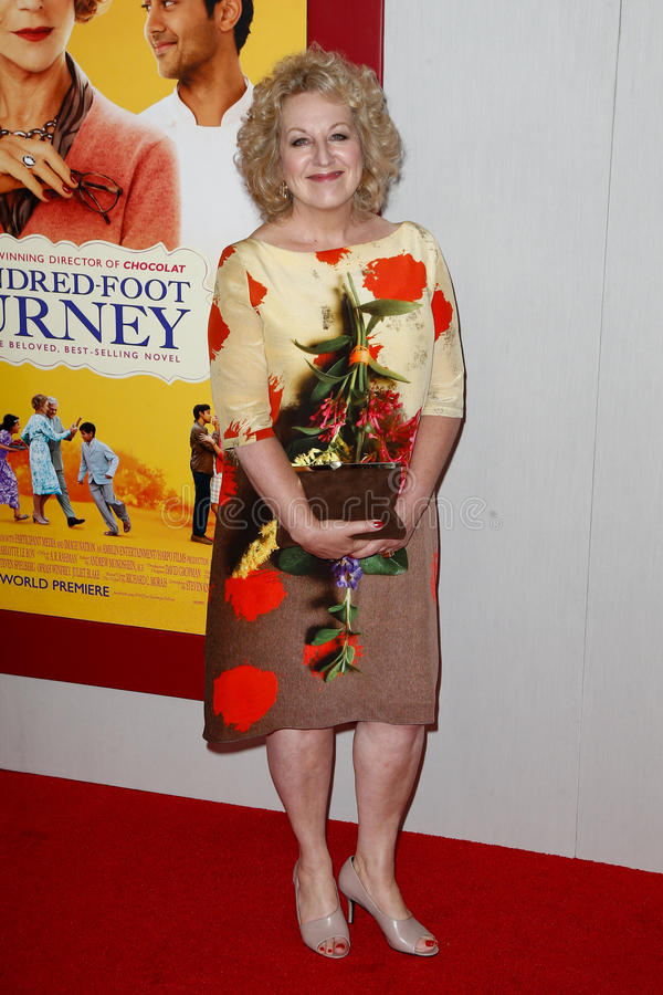 Juliet Blake. NEW YORK-AUG 4: Producer Juliet Blake attends The Hundred-Foot Journey premiere at the Ziegfeld Theatre on August 4, 2014 in New York City royalty free stock images