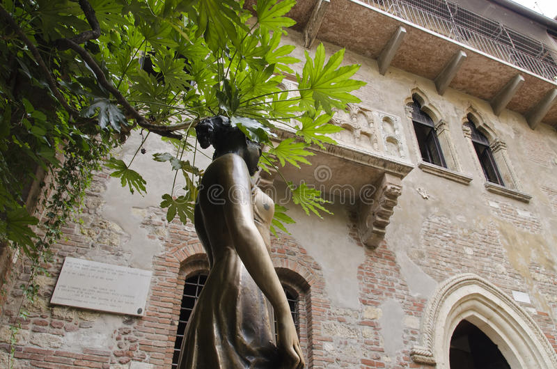 Juliet em Verona foto de stock royalty free