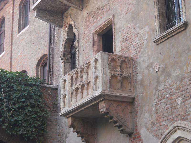 Juliet ` s balkon w Verona obraz royalty free