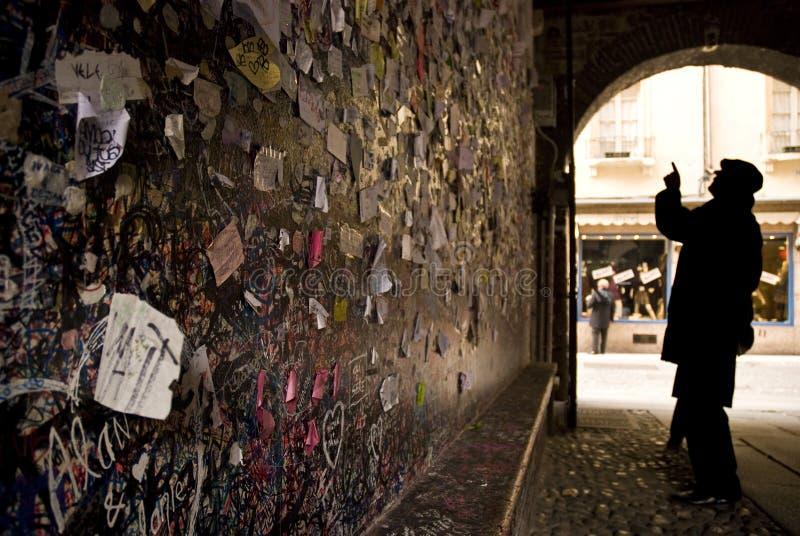 juliet s Vérone de l'Italie de maison images libres de droits