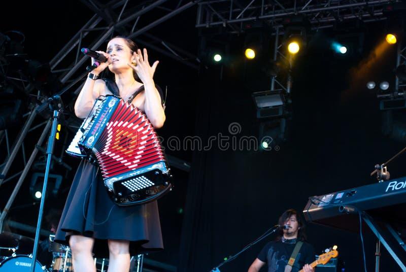 Julieta Vengas音乐会 免版税库存图片