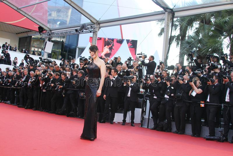 Juliette Binoche στο κλείσιμο Gala στοκ φωτογραφία με δικαίωμα ελεύθερης χρήσης