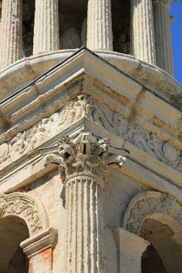 Julii的陵墓,圣雷米de普罗旺斯,细节 库存照片