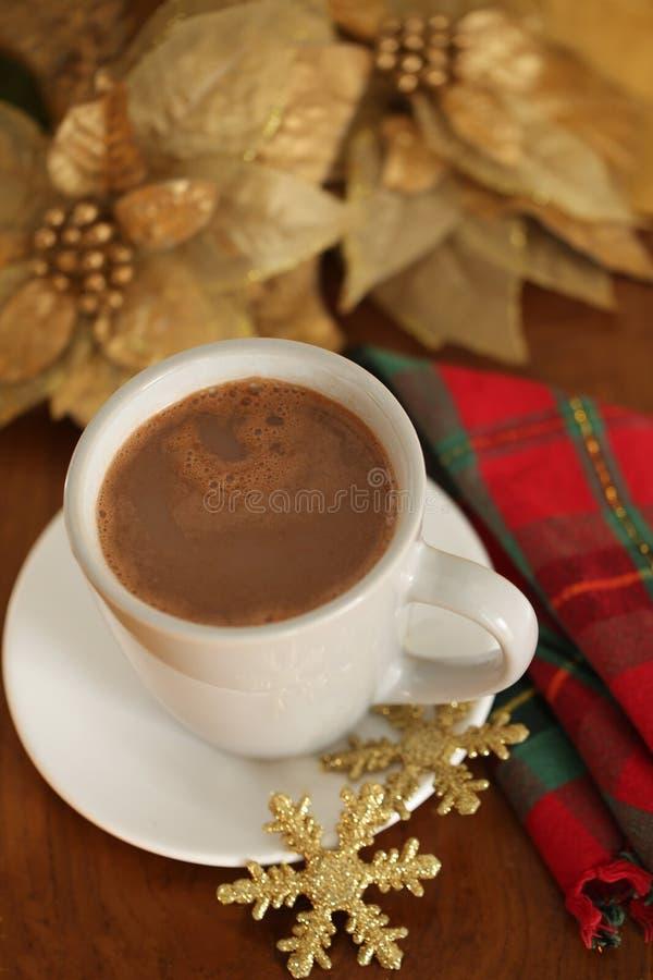 Julinställning för varm choklad royaltyfri fotografi