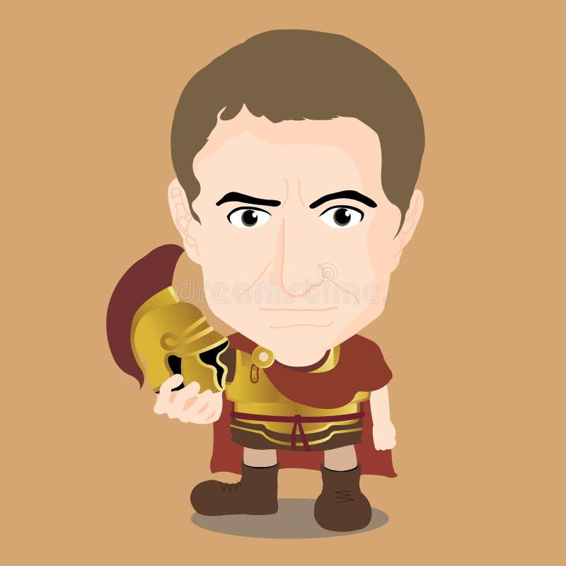 Julius Caesar Character ilustração stock