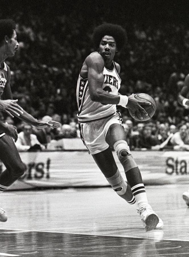 Julius Erving Filadelfia 76ers zdjęcie royalty free