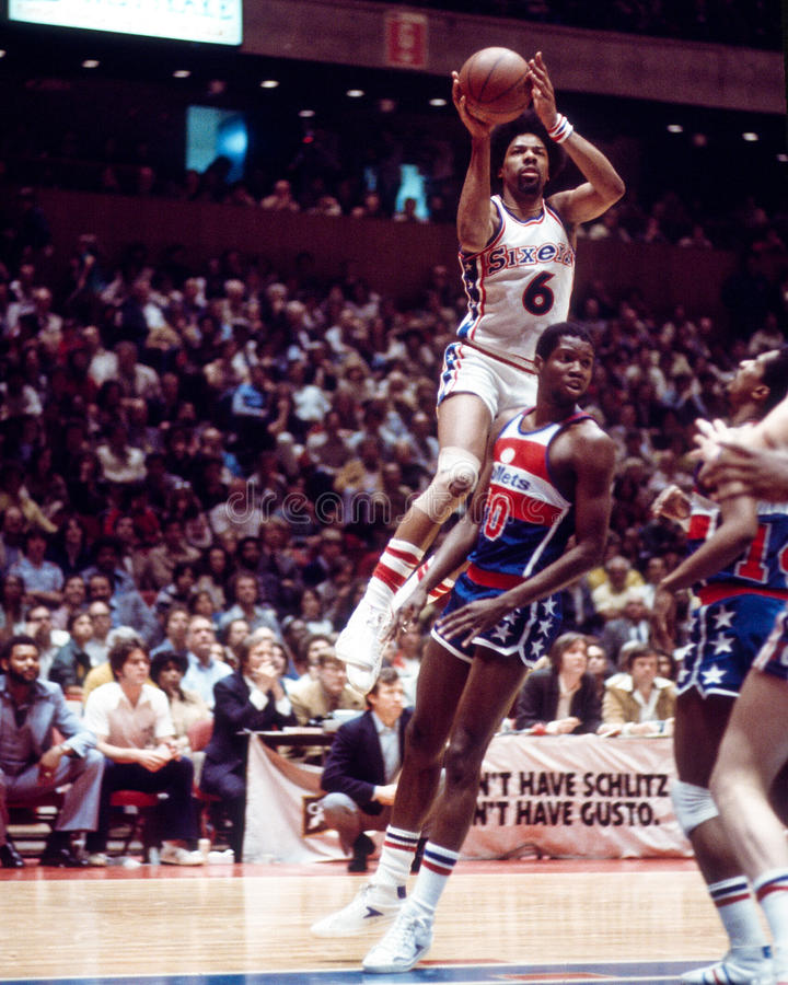 Julius Erving Filadelfia 76ers zdjęcia royalty free