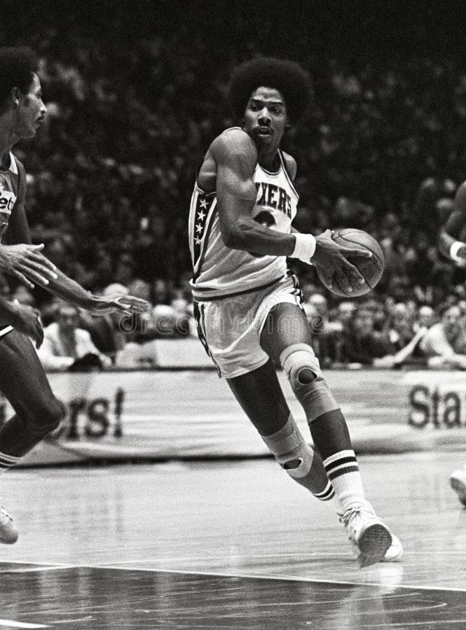 Julius Erving Philadelphia 76ers photo libre de droits