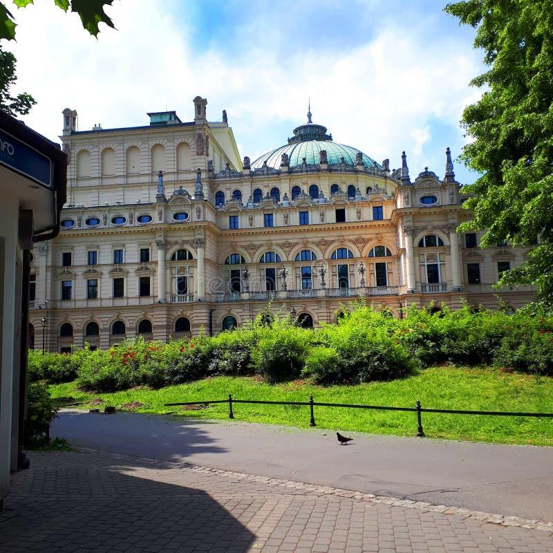 Juliusz Slowacki Theatre i Krakow Polen fotografering för bildbyråer