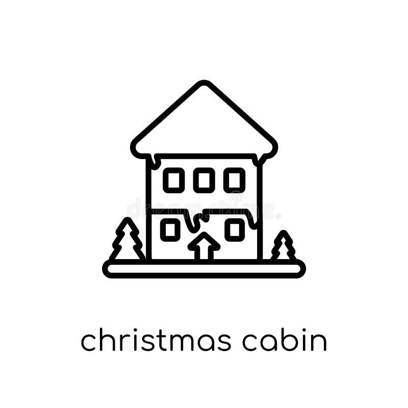 julkabinsymbol från julsamling royaltyfri illustrationer