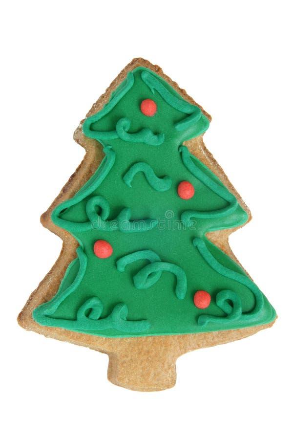 Julkakan som in göras, formar av julgran arkivbild