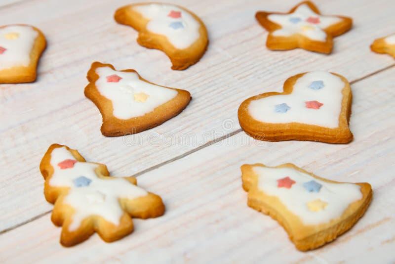 Julkakor med vit glasyr fotografering för bildbyråer