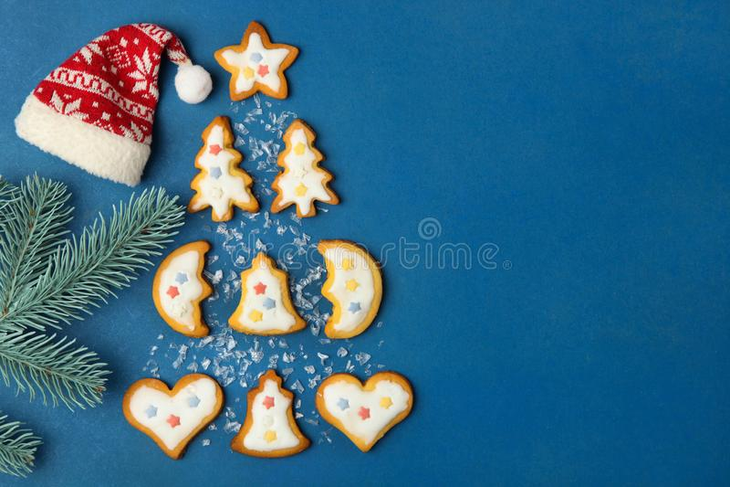 Julkakor med vit glasyr arkivfoton