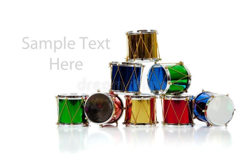 julkopian drums miniatyravståndswhite royaltyfria bilder