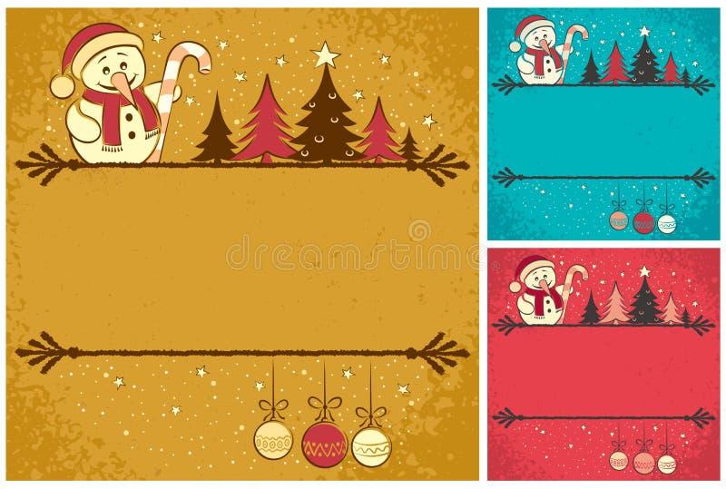 Julkort 4 stock illustrationer