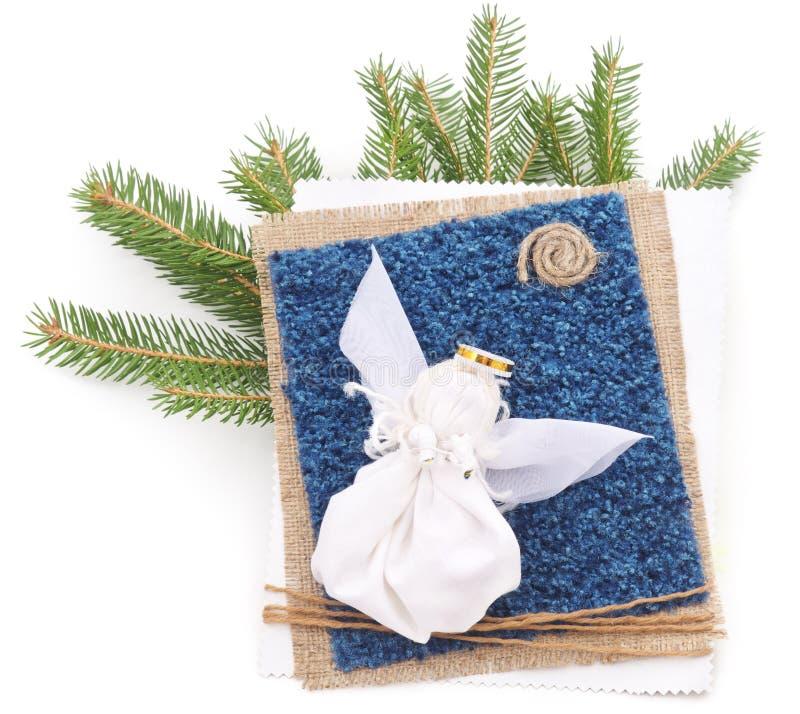 Julkort med ängel arkivfoto